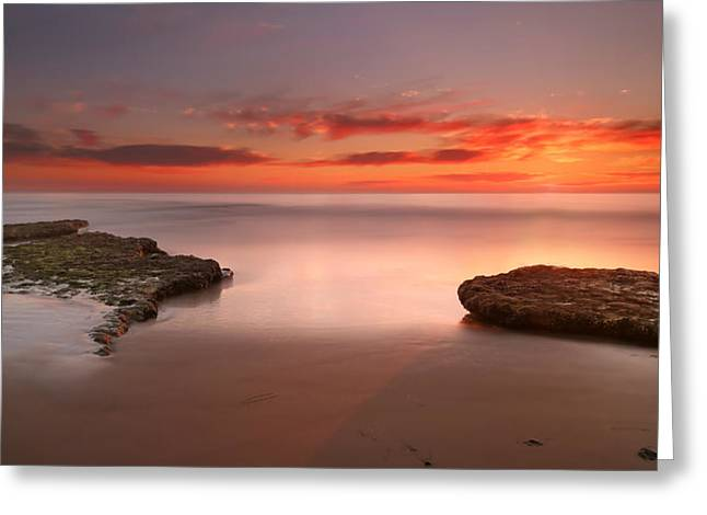 California Art Greeting Cards - Seaside Reef Sunset 6 Greeting Card by Larry Marshall