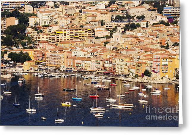 Villefranche Greeting Cards - Seaside Town of Villefranche sur Mer in Southern France Greeting Card by Jeremy Woodhouse