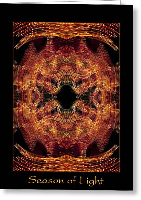 Christmas Art Photographs Greeting Cards - Season of Light 3 Greeting Card by Bell And Todd