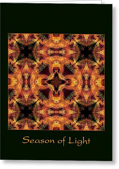 Christmas Art Photographs Greeting Cards - Season of Light 5 Greeting Card by Bell And Todd