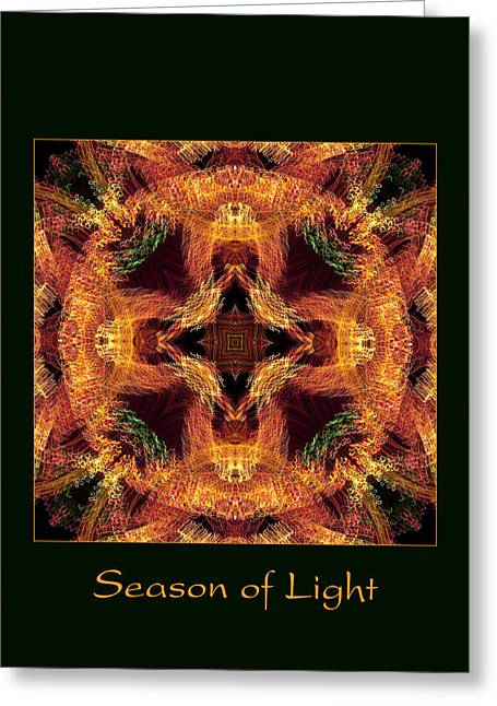Christmas Art Photographs Greeting Cards - Season of Light 6 Greeting Card by Bell And Todd