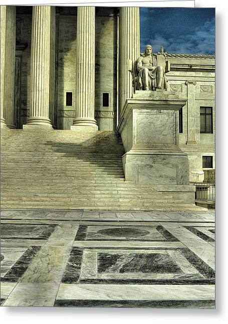 Sculpture Photographs Greeting Cards - Seated Figure and Columns I Greeting Card by Steven Ainsworth