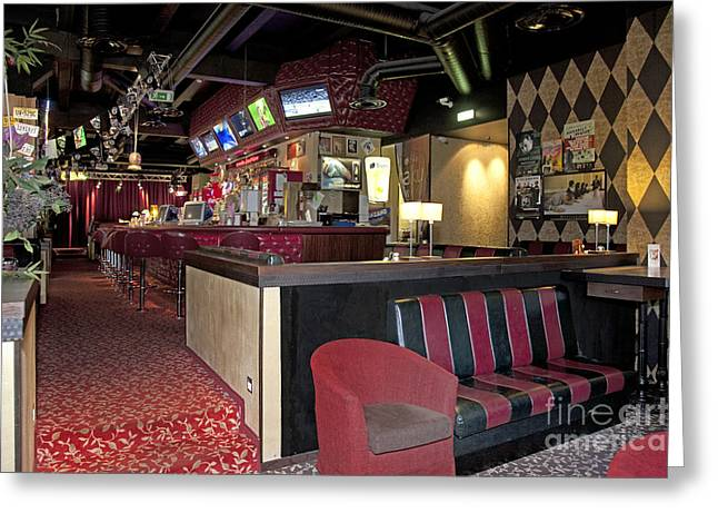Tallinn Greeting Cards - Seating at an American Style Diner Greeting Card by Jaak Nilson