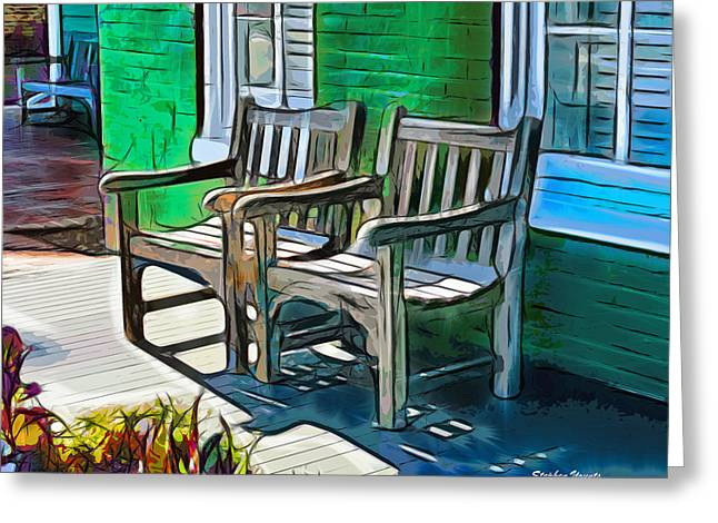 St. Michael Greeting Cards - Seating for Two Greeting Card by Stephen Younts