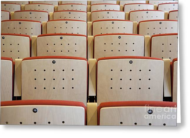 Seating In A Traditional Music Center Greeting Card by Jaak Nilson