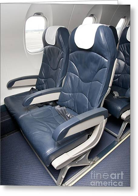 Airline Industry Greeting Cards - Seats on an Airliner Greeting Card by Jaak Nilson