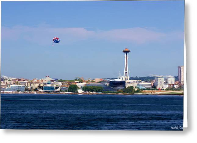Space Needle Photographs Greeting Cards - Seattle - American City Greeting Card by Heidi Smith
