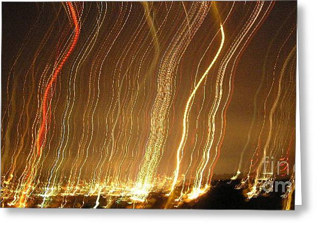 Silvie Kendall Photographs Greeting Cards - Seattle Burning at Night Greeting Card by Silvie Kendall