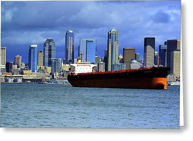 Photomatix Pro Greeting Cards - Seattle Cargo Greeting Card by Dale Stillman