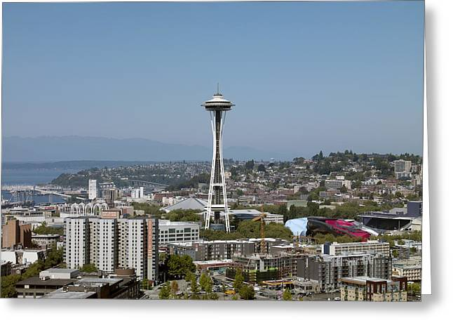 Space Needle Photographs Greeting Cards - Seattle: Cityscape, 2009 Greeting Card by Granger