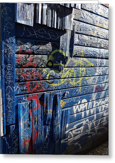 Vandalize Photographs Greeting Cards - Seattle Graffiti Greeting Card by Randall Weidner