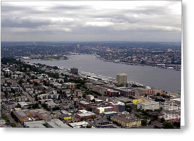 Seattle Photographs Greeting Cards - Seattle View Greeting Card by John Krakora