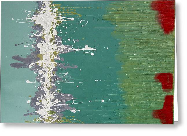 Drippy Paintings Greeting Cards - Seaweed Greeting Card by Kate Tesch