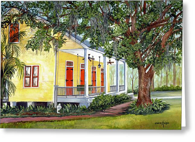 Historic Home Paintings Greeting Cards - Sebastopol Plantation Greeting Card by Elaine Hodges