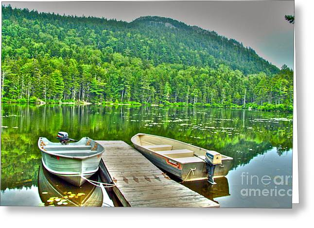 Maine Lake Greeting Cards - Sebec Lake Greeting Card by Alberta Brown Buller