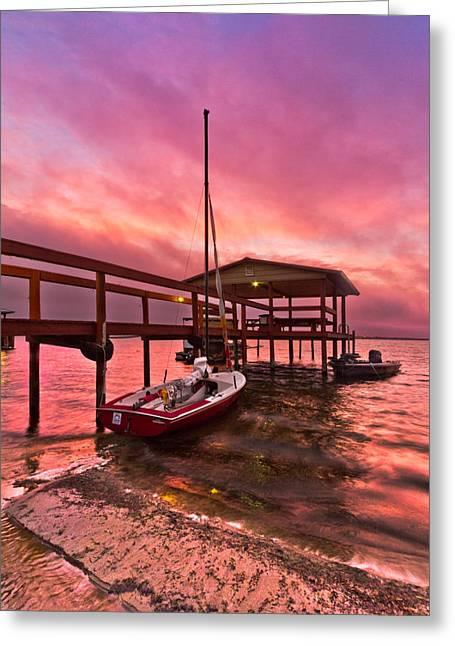 Wales Posters Greeting Cards - Sebring Sailing Greeting Card by Debra and Dave Vanderlaan