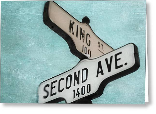 second Avenue 1400 Greeting Card by Priska Wettstein