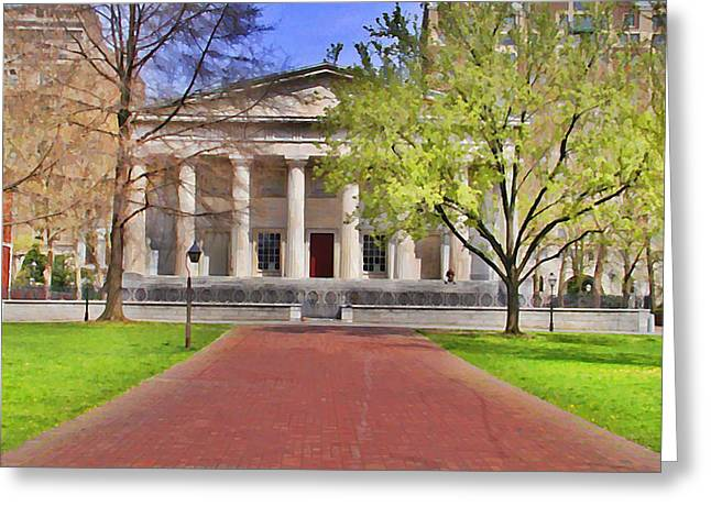 Philadelphia Digital Art Greeting Cards - Second Bank of the United States Greeting Card by Bill Cannon