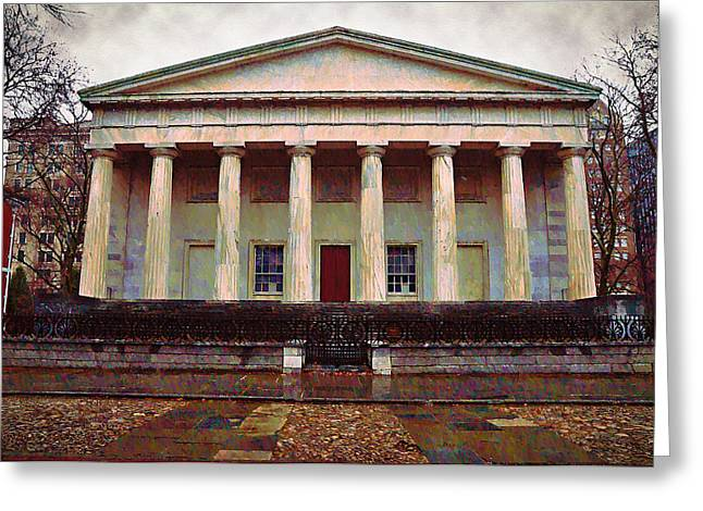 Second Bank Of The United States Philadelphia Pa Greeting Card by Bill Cannon