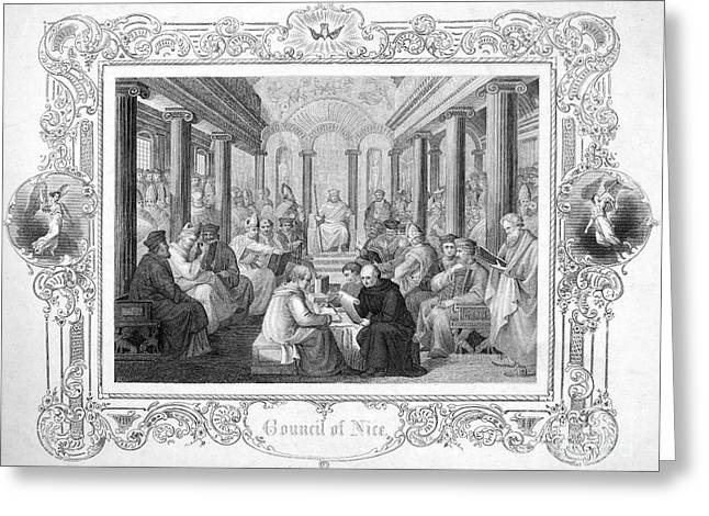 SECOND COUNCIL OF NICAEA Greeting Card by Granger