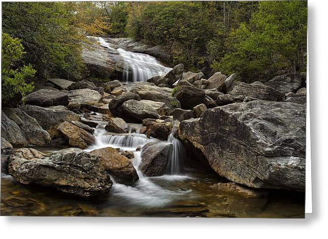 Second Falls - Blue Ridge Falls Greeting Card by Andrew Soundarajan