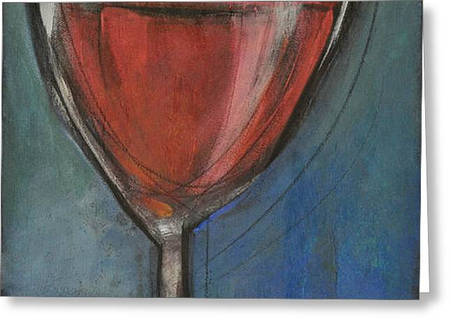 second glass of red Greeting Card by Tim Nyberg