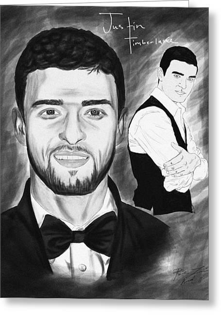 Kenal Louis Greeting Cards - Secret Agent Justin Timberlake Greeting Card by Kenal Louis