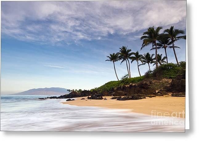 Chang Greeting Cards - Secret Beach Maui Sunrise Greeting Card by Dustin K Ryan