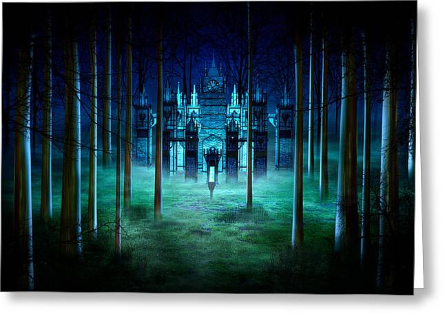 Vinatge Greeting Cards - Secret Castle Greeting Card by Svetlana Sewell