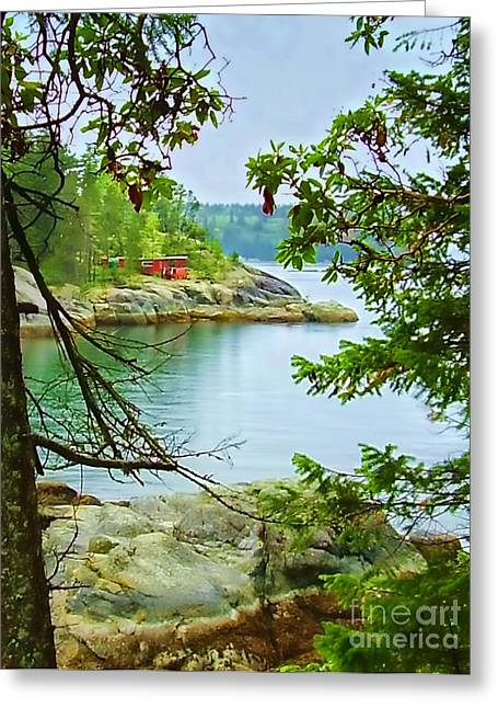 Old Caboose Greeting Cards - Secret Cove Greeting Card by Diana Cox