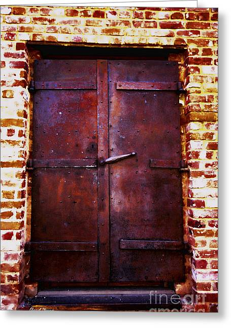 Art Of Building Greeting Cards - Secret Door Greeting Card by Cheryl Young
