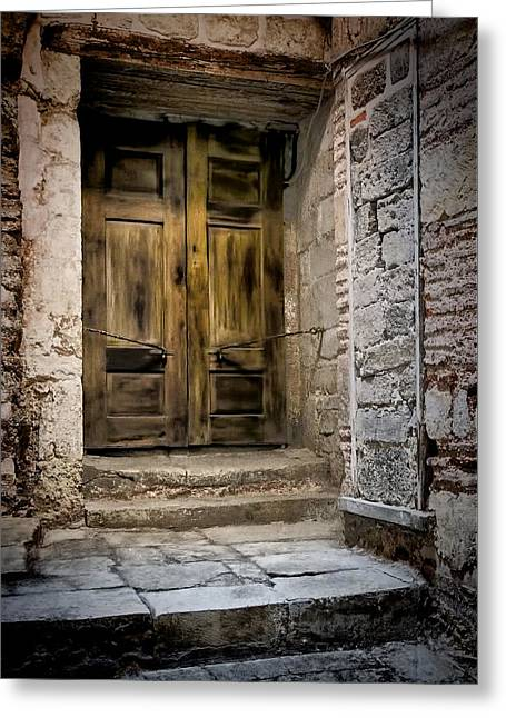Architecture Framed Prints Greeting Cards - Secret Doorway Greeting Card by Joan Carroll