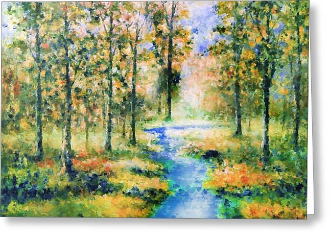 Ecommerce Greeting Cards - Secret Rivers Greeting Card by Georgiana Romanovna