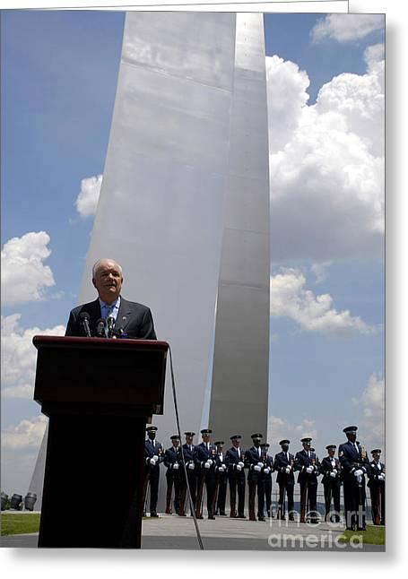 Secretary Of The Air Force Salutes Greeting Card by Stocktrek Images