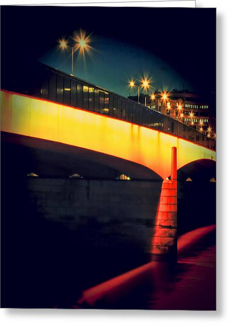 Jasna Greeting Cards - Secrets of London Bridge Greeting Card by Jasna Buncic