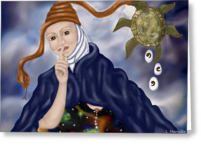 Linda Marcille Greeting Cards - Secrets of the Universe Greeting Card by Linda Marcille