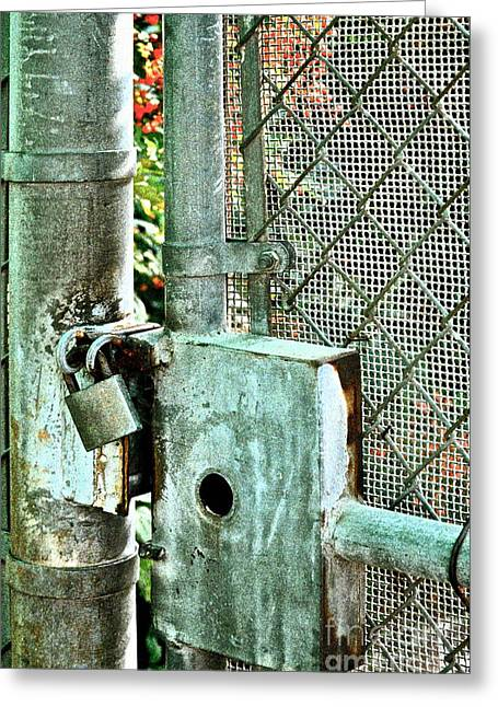 Lock Down Greeting Cards - Secure Greeting Card by Gwyn Newcombe