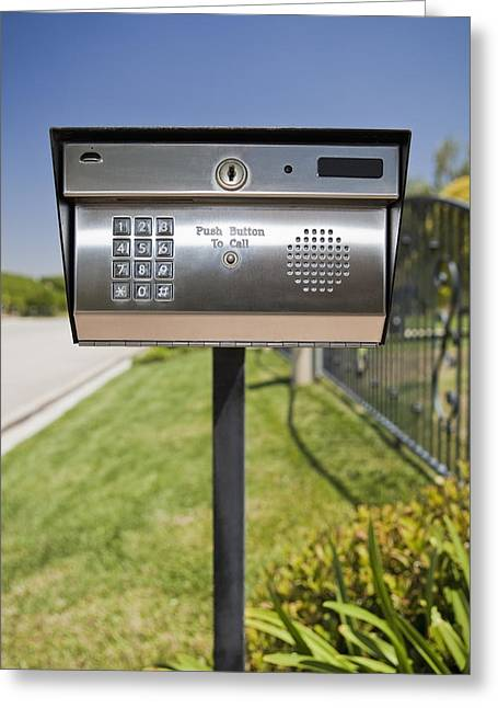 Residential Structure Greeting Cards - Security Call Box Camarillo California Greeting Card by Bryan Mullennix
