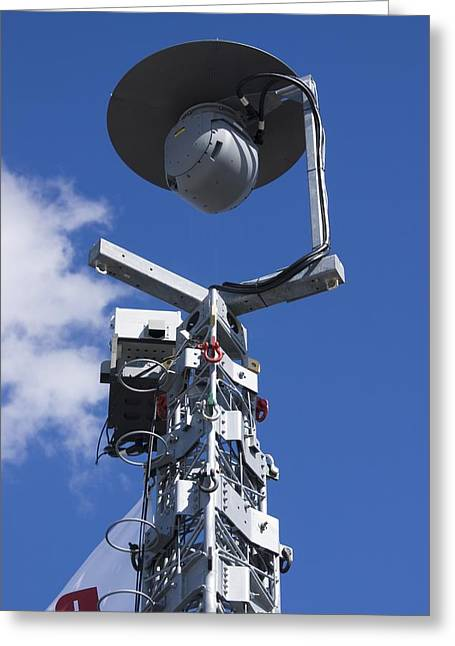 Security Camera On Tower. Greeting Card by Mark Williamson