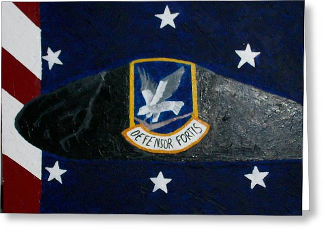 Military Pastels Greeting Cards - Security Forces U.S. Air Force Greeting Card by Roy Penny