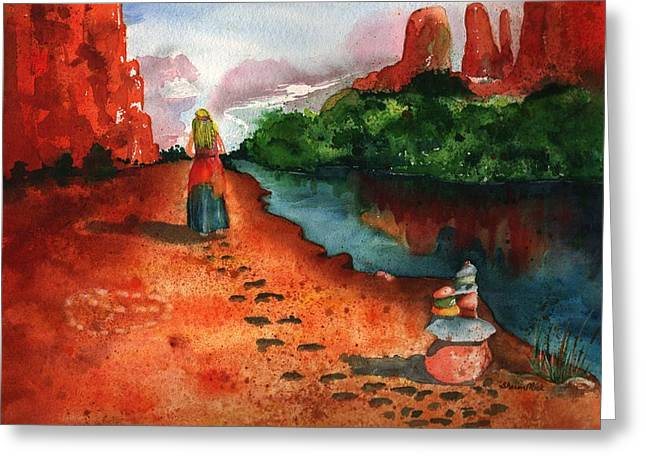 Inner Self Greeting Cards - Sedona Arizona Spiritual Vortex Zen Encounter Greeting Card by Sharon Mick