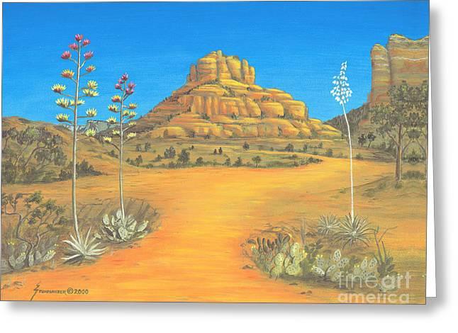 Jerome Stumphauzer Greeting Cards - Sedona Bell Rock Greeting Card by Jerome Stumphauzer