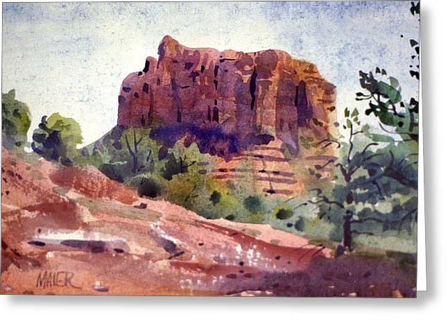 Butte Greeting Cards - Sedona Butte Greeting Card by Donald Maier