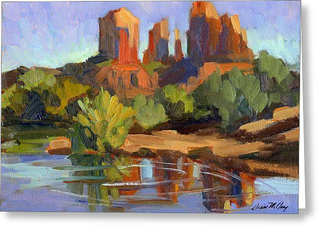 Sedona Greeting Cards - Sedona Cathedral Rock Greeting Card by Diane McClary