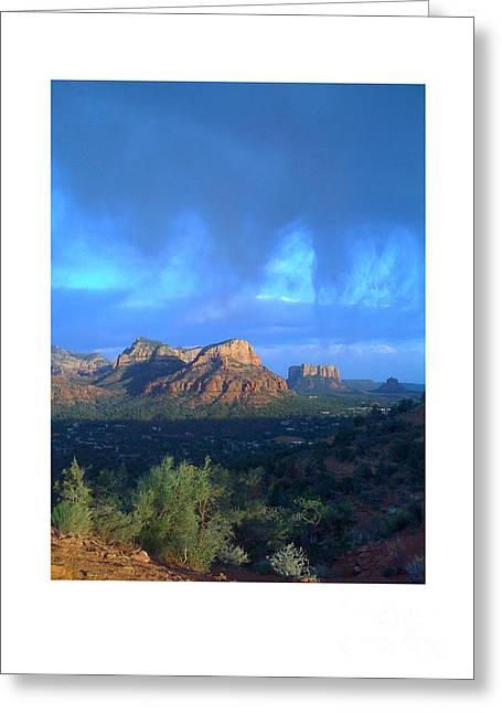 Sedona Clouds Greeting Card by Nina Prommer