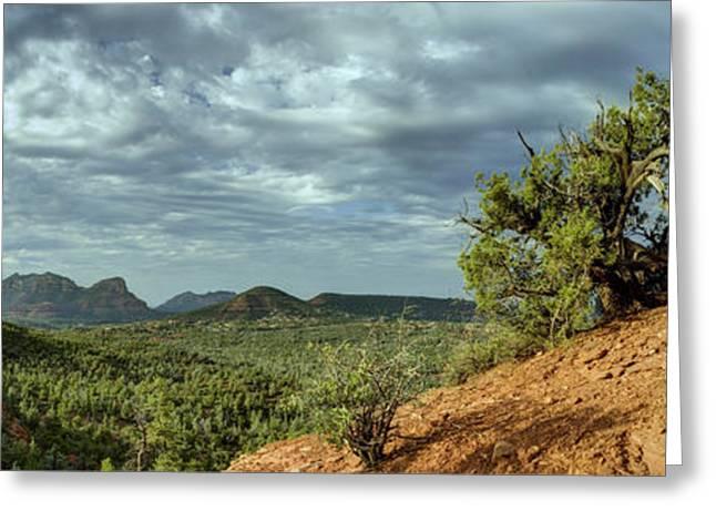 Sedona From the Top of Jordan Trail Greeting Card by Dan Turner