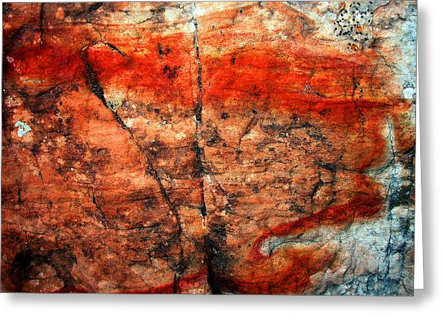 Abstract Expressionist Greeting Cards - Sedona Red Rock Abstract 2 Greeting Card by Peter Cutler