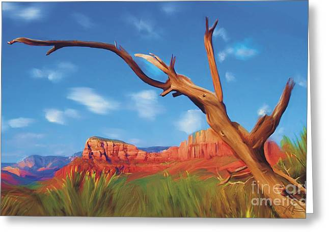Sedona Red Rock Greeting Cards - Sedona Red Rock Country Greeting Card by Bob Salo