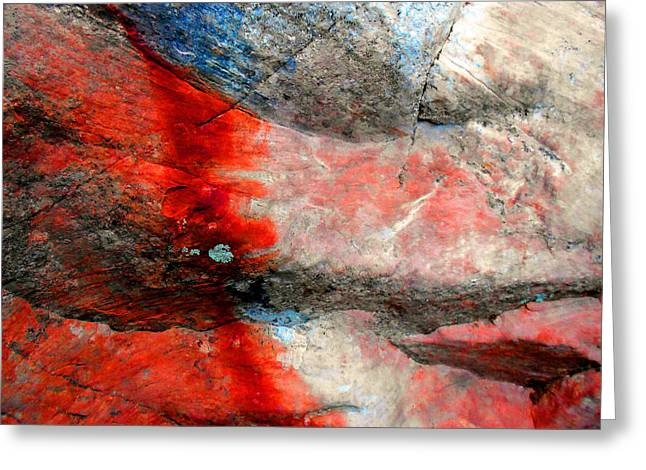 Abstract Expressionist Greeting Cards - Sedona Red Rock Zen 2 Greeting Card by Peter Cutler