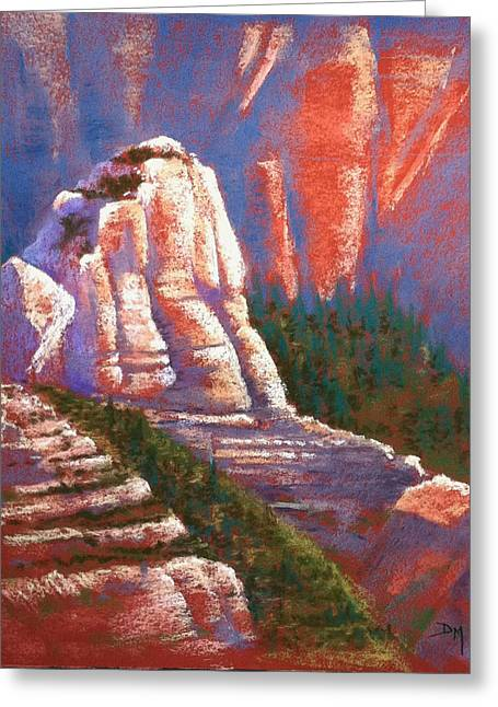 Formation Pastels Greeting Cards - Sedona Rock Greeting Card by Drusilla Montemayor